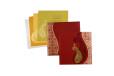 Paisley Red Wedding Card PR 477