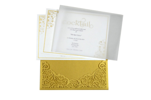 Laser Cut Wedding Card PR 482