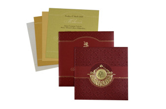 Red Hindu Budget Wedding Card PR 502