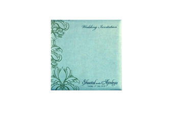 Light Blue Budget Wedding Card PR 508