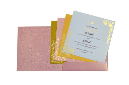 Baby Pink Budget Wedding Card PR 512