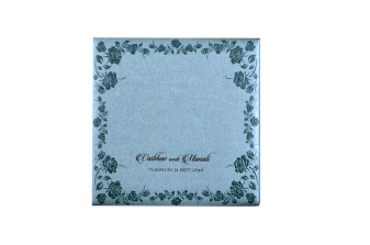 Light Blue Budget Wedding Card PR 513