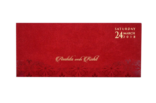 Red Budget Wedding Card PR 520