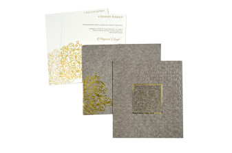 Grey Lasercut Wedding Card PR 529