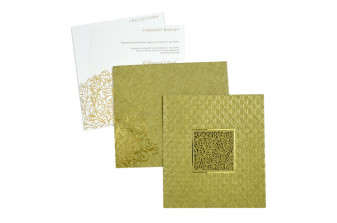 Golden Lasercut Wedding Card PR 530