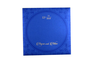 Lotus Theme Laser Cut Wedding Card PR 531