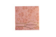 Baby Pink Floral Wedding Card PR 541