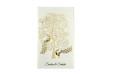 White Peacock Theme Wedding Card PR 545