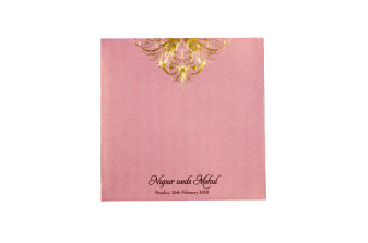 Baby Pink Budget Wedding Card PR 549