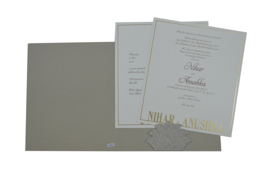 Grey Wedding Card Design PR 551