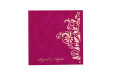 Hot Pink Laser Cut Wedding Card PR 553