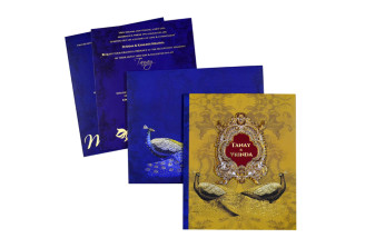 Exclusive Peacock Theme Wedding Card PR 904