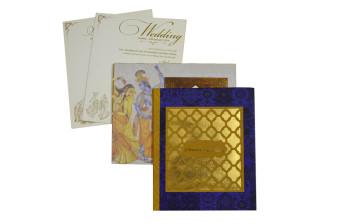 Exclusive Radha Krishna Theme Lasercut Wedding Card PR 906
