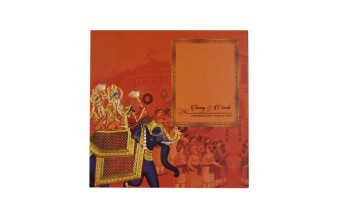 Exclusive Baraat Theme Wedding Card PR 912