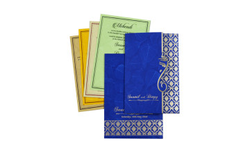 Blue Budget Hindu Wedding Card RB 1422 BLUE