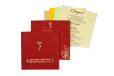 Padded Hindu Wedding Card RB 1443 RED