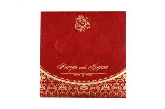 Budget Hindu Wedding Card RB 1459 RED