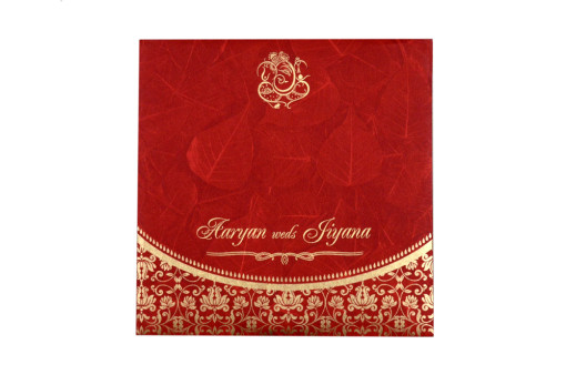 Budget Hindu Wedding Card RB 1459 RED