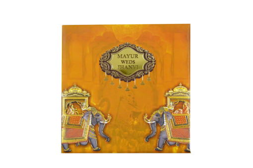 Elephnant Theme Wedding Card RB 1521