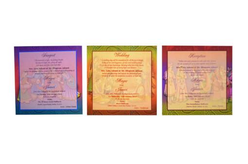 Elephnant Theme Wedding Card RB 1521
