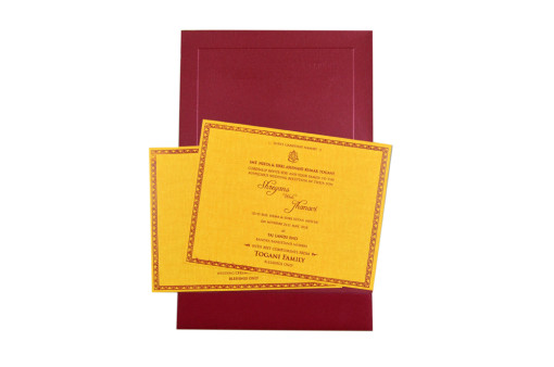Velvet Touch Paper Budget Wedding Card RB 1522 RED