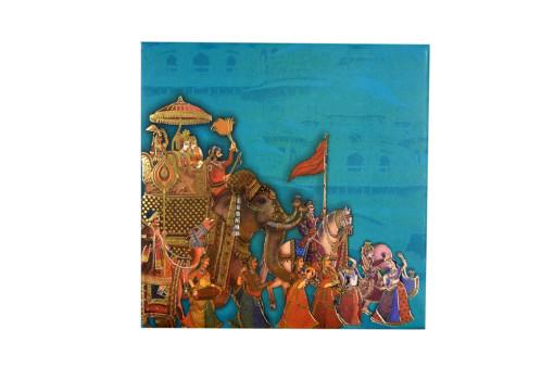 Baraat Theme Wedding Card RB 1524