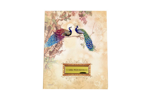 Peacock Theme Wedding Card RB 1531