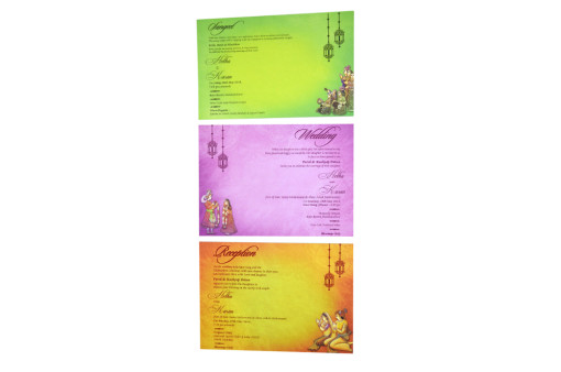 Royal Elephant Theme Wedding Card RB 1534