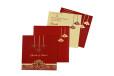 Lasercut Budget Wedding Card RB 1559 RED