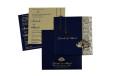 Lasercut Budget Wedding Card RB 1562 BLUE