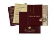 Lasercut Budget Wedding Card RB 1562 MAROON