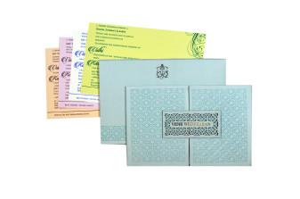 Lasercut Padded Wedding Card RB 1563 BLUE