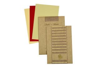 Budget Khakhi Wedding Card RN 2170 KHAKHI