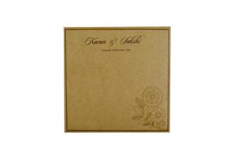 Budget Khakhi Wedding Card RN 2201