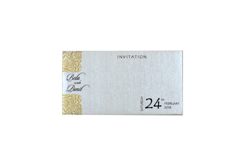Small Size Padded Wedding Card RN 2202 CREAM