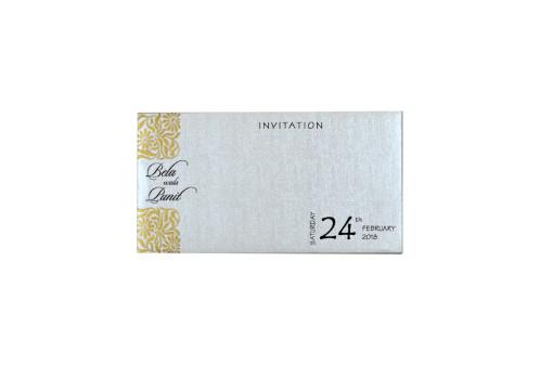 Small Size Padded Wedding Card RN 2202 CREAM