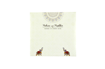 Elephant Theme Hindu Wedding Card RN 2203