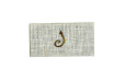 Small Size White Jute Padded Wedding Card RN 2220