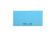 Small Size Blue Jute Padded Wedding Card RN 2236