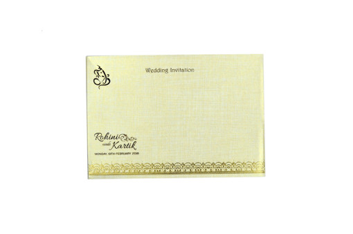Peach Wedding Card RN 2292 PEACH