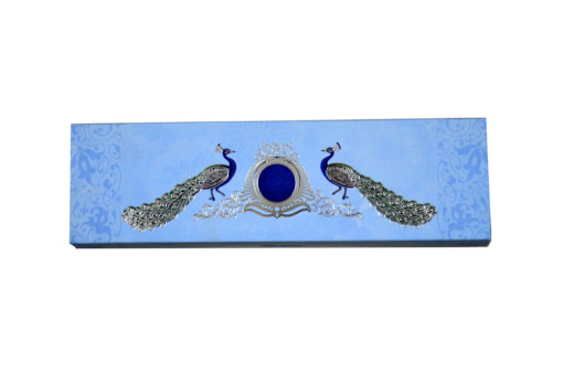 Peacock Theme Roll Invitation SC 148